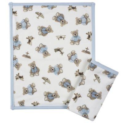 Imagem 1 do produto Kit com 2 fraldinhas de boca atoalhadas Chevalier - Classic for Baby
