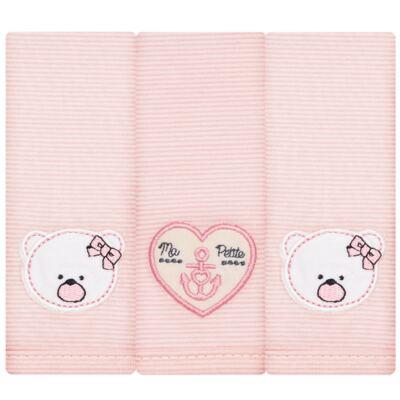 Imagem 1 do produto Kit com 3 fraldinhas de boca em malha Pink Captain - Classic for Baby