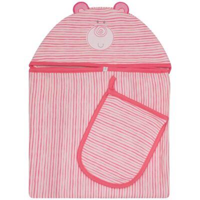 Imagem 1 do produto Toalha com capuz + Luva para bebe Zoo Cute Bear - Classic for Baby