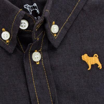 Imagem 2 do produto Camisa para bebê em chambray Preto - Charpey - CY21132.900 CAMISA CAMBREY ML PRETO-G