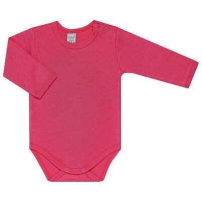 Imagem 3 do produto Kit 2 Bodies longos para bebe Pink Little Hearts - Vicky Lipe - LTPBML02 PACK 2 BODIES ML CORAÇÃO ROSA BB/PINK-P