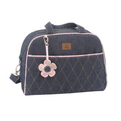 Imagem 3 do produto Bolsa maternidade para bebe + Frasqueira New Little Flower Jeans - Hey Baby