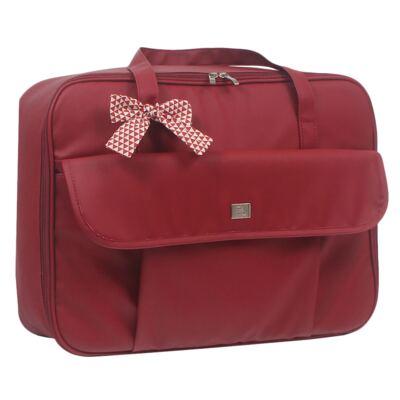 Imagem 2 do produto Mala maternidade + Bolsa + Frasqueira térmica + Mochila + Porta Mamadeira Laço Vermelho - Hey Baby