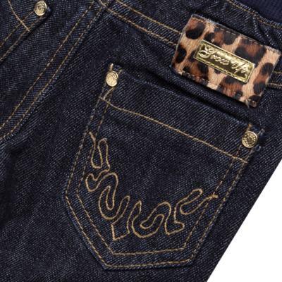 Imagem 3 do produto Calça para bebe jeans c/ cós em ribana e barra dobrável - Grow Up - 03060163.0058 CALCA DENIM FEM FORRADA JEANS-1