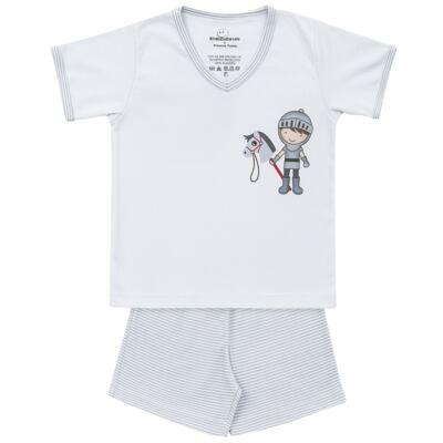 Imagem 1 do produto Pijama curto em suedine Chevalier - Dedeka - DDK16201 Pijama Suedine Curto Chevalier-2