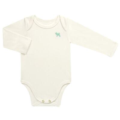 Imagem 1 do produto Body longo para bebe em suedine Off White - Charpey - CY21390.138 BODY SUEDINE ML OFF WHITE -GG