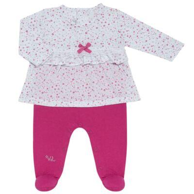Imagem 2 do produto Jogo Maternidade para bebe com Macacão e Manta em malha Little Cute - Vicky Lipe - 21381362 JG MATERNIDADE MACA-VESTIDO MALHA ELEFANTINHO-P