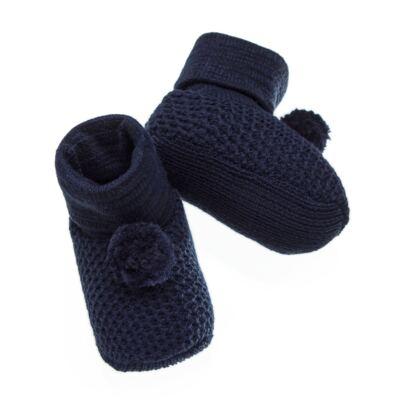 Imagem 2 do produto Botinha pompom em tricot Marinho - Roana