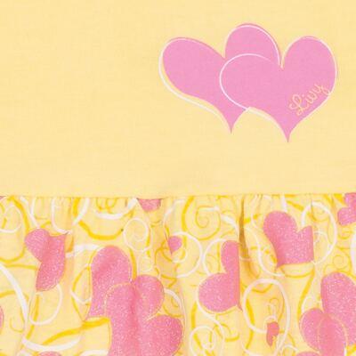 Imagem 2 do produto Vestido para bebê Cute Hearts Amarelo - Livy - LV4901.AM VESTIDO HEART COTTON AMARELO-G