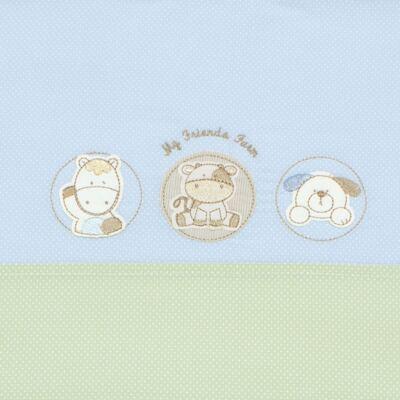 Imagem 2 do produto Jogo de lençol em malha para berço Funny Farm - Classic for Baby