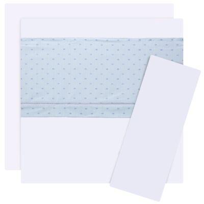 Imagem 1 do produto Jogo de lençol para berço em cambraia Sailor - Classic for Baby
