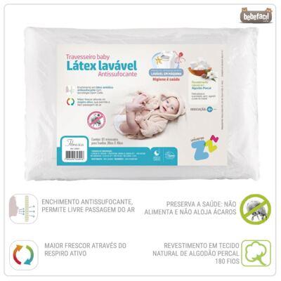 Imagem 2 do produto Travesseiro Látex Baby Antissufocante - Fibrasca
