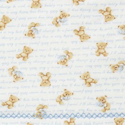 Imagem 2 do produto Jogo de lençol para berço em algodão egípcio c/ jato de cerâmica e filtro solar fps 50 Maternity Blue Bear - Classic for Baby