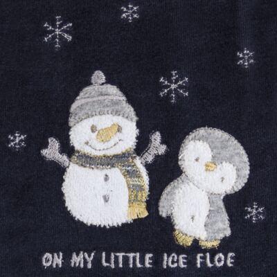 Imagem 2 do produto Macacão longo c/ capuz para bebe em plush Ice Penguim - Anjos Baby - AB171176.040 Macacão Longo Masc plush Marinho -M