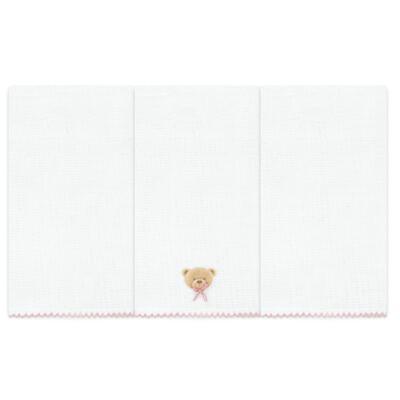 Imagem 1 do produto Kit com 3 fraldinhas de boca em fralda Maternity Pink Bear - Classic for Baby