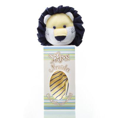 Imagem 6 do produto Kit: Bichinho Chocalho + Naninha Chocalho para bebe Leão - Anjos Baby