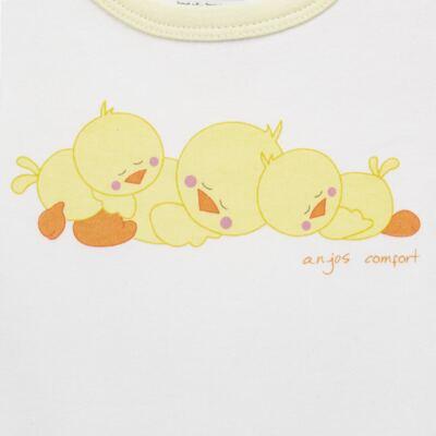 Imagem 3 do produto Pijama longo para bebe em suedine Piu Piu - Anjos Baby - AB1759006.004 PIJAMA BABY SUEDINE FEM PIU PIU T06-M
