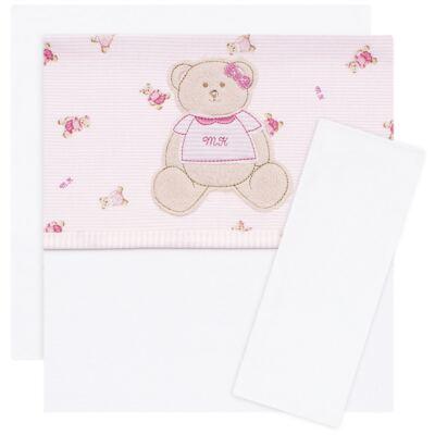 Imagem 1 do produto Jogo de lençol para berço em malha Kedy Bear - Classic for Baby