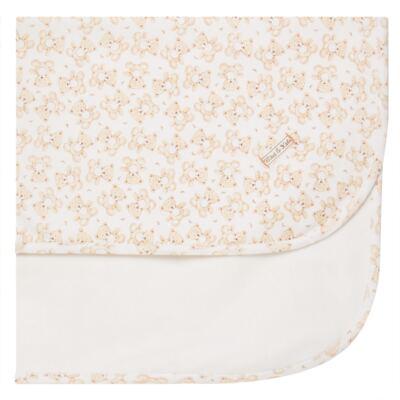 Imagem 1 do produto Manta em algodão egípcio c/ jato de cerâmica e filtro solar fps 50 Nature Little Friend Bear - Mini & Kids - MTAV0001.18 MANTA AVUSA-SUEDINE