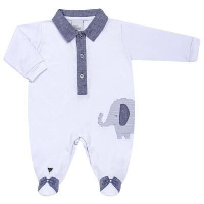 Imagem 1 do produto Macacão longo para bebe em suedine Elephant - Anjos Baby - AB163133-001 MACACAO LONGO MASC T15-M