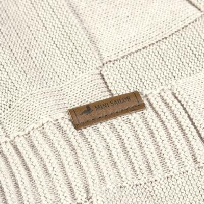 Imagem 3 do produto Manta para bebe em tricot Mosaic Caqui - Mini Sailor
