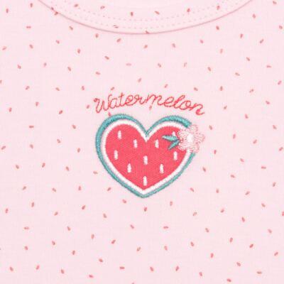 Imagem 2 do produto Body regata para bebe em suedine Sweet Watermelon - Vicky Lipe - BR768 BODY REGATA SUEDINE MELANCIA 2-GG