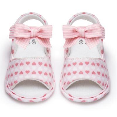 Imagem 1 do produto Sandália para bebe em algodão egípcio c/ jato de cerâmica e filtro solar fps 50 Maternité Love - Mini & Kids - 500.005.0751999 SANDÁLIA GORGURÃO 0 MK 15-15