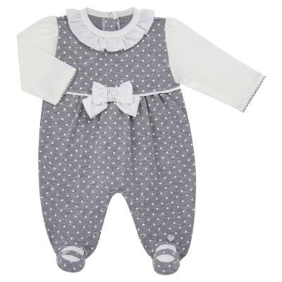 Imagem 1 do produto Macacão longo para bebe em suedine Petit Pois - Anjos Baby - AB171064.032 MACACAO LONGO FEM. T07-M