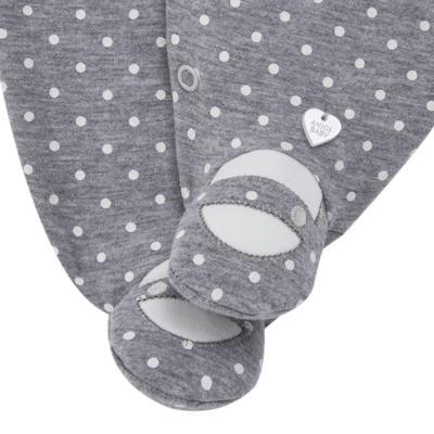 Imagem 3 do produto Macacão longo para bebe em suedine Petit Pois - Anjos Baby - AB171064.032 MACACAO LONGO FEM. T07-M