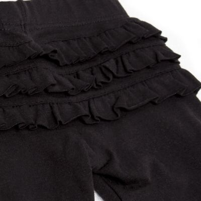 Imagem 3 do produto Legging para bebe com Babadinhos em cotton Preta - Mini & Kids - LGCB0001.233 LEGGING C/BABADINHO - COTTON-M