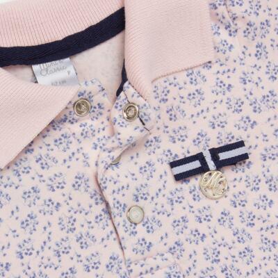 Imagem 2 do produto Body Vestido para bebe em malha Blue Flowers - Mini & Classic - 0410658 BODY VESTIDO POLO MALHA FLORAL NAVY -GG