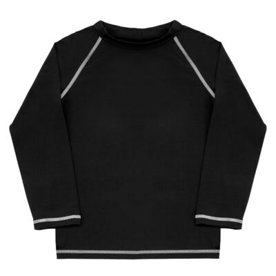 Imagem 1 do produto Camiseta longa Surfista para bebê em lycra FPS 50 Preta - Dedeka - DDK18512/L09 CAMISETA ML FLUITY PRETO-1