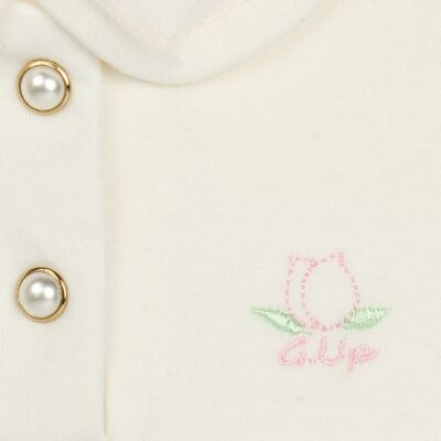 Imagem 3 do produto Body Polo com Shorts para bebe em suedine Florale - Grow Up - 04080008.0004 CONJUNTO FLOWERY CREME-G