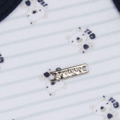 Imagem 3 do produto Regata com Cobre fralda em algodão egípcio Baby Bear - Grow Up - 04070046.0019 RGTA C/ CB FRALDA MASC BEST SELLERS MARINHO-P