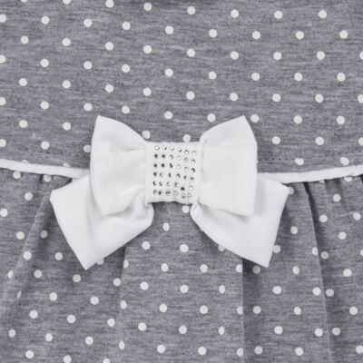Imagem 2 do produto Macacão longo para bebe em suedine Petit Pois - Anjos Baby - AB171064.032 MACACAO LONGO FEM. T07-GG