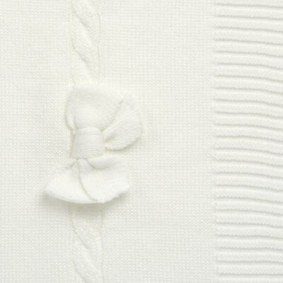 Imagem 2 do produto Manta para bebe em tricot Off White - Mini & Classic