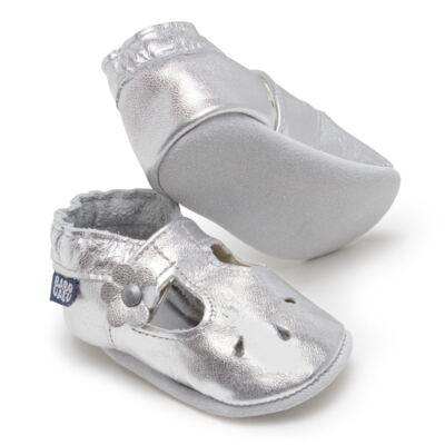 Imagem 2 do produto Sapatilha Boneca para bebe em couro Eco Prata - Babo Uabu - BABO35 Sandalia Boneca Prata-0-6 meses