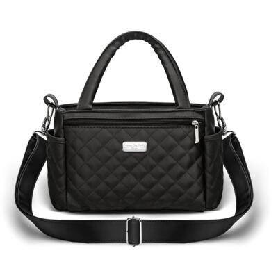 Imagem 3 do produto Kit Bolsa Paris + Frasqueira térmica Nantes Silver Preta - Classic for Baby Bags