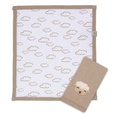 Imagem 1 do produto Kit com 2 fraldinhas de boca em malha para bebe Ovelhinha - Píngo Lelê
