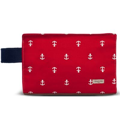 Imagem 1 do produto Mini Bolsa para bebe em sarja Navy Vermelha - Classic for Baby Bags