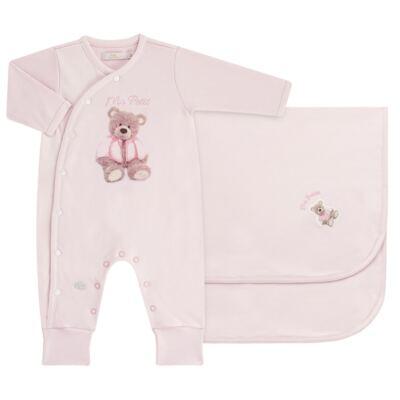 Imagem 1 do produto Jogo Maternidade com Macacão e Manta em algodão egípcio Bellamy - Petit