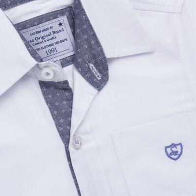 Imagem 2 do produto Camisa manga longa para bebe em tricoline Branca - Sylvaz - SZ627 CAMISA INFANTIL ML BRANCO-2