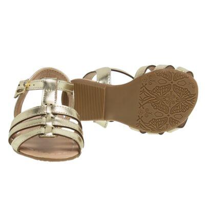 Imagem 2 do produto Sandália em couro Dourada - Lupie - LP12.14 IPANEMA DOURADO-18