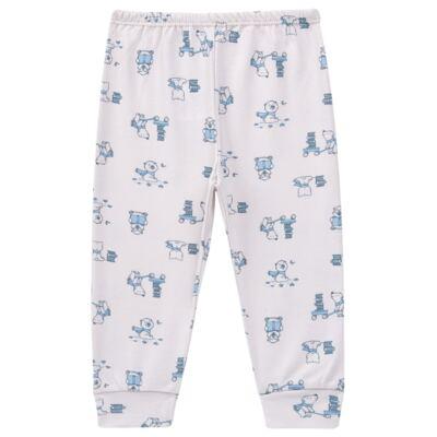 Imagem 4 do produto Pijama longo para bebe em suedine Smart Bear - Dedeka - DDK16563/E110 Pijama Suedine Urso Azul-P