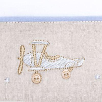 Imagem 2 do produto Jogo de lençol para berço em malha Aviõezinhos - Roana