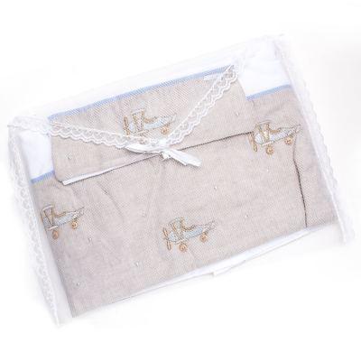 Imagem 3 do produto Jogo de lençol para berço em malha Aviõezinhos - Roana