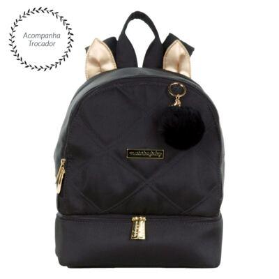 Imagem 1 do produto Mochila maternidade Gatinho Soho Black - Masterbag
