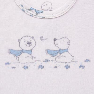 Imagem 3 do produto Pijama longo para bebe em suedine Smart Bear - Dedeka - DDK16563/E110 Pijama Suedine Urso Azul-G