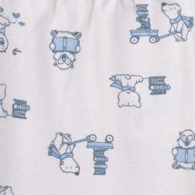 Imagem 5 do produto Pijama longo para bebe em suedine Smart Bear - Dedeka - DDK16563/E110 Pijama Suedine Urso Azul-G