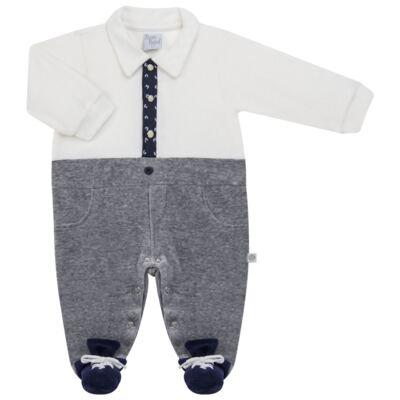 Imagem 5 do produto Macacão longo c/ Colete para bebe em plush Benicio - Beth Bebê - BB8919 Macacão Colete Benicio Azul-P
